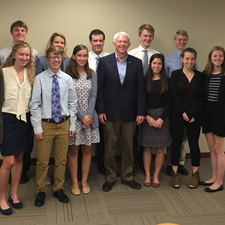 TCAPS students meet Senator