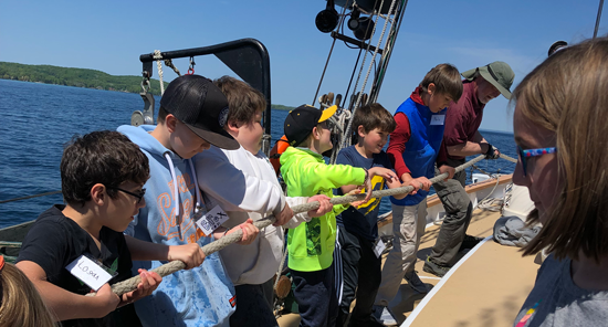 Tall Ship science experiments