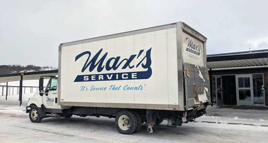 Max's delivering washer and dryer to West Middle School