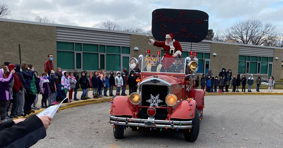 Traverse Heights Santa Visit
